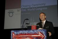 The ex-president of IFAC Professor Vladimír Kučera at the closing ceremony