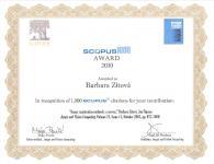 Scopus 1000 Award 2010